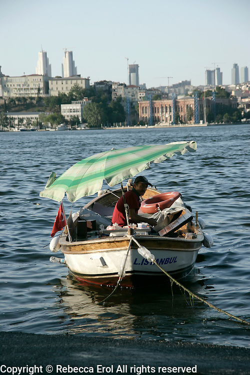 Boatsman on the Golden Horn, Istanbul, Turkey
