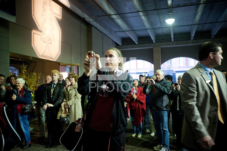 SPOKANE, WA - MARCH 26, 2011: Jeanette Pohlen at the Stanford Women's Basketball pre-game festivites at the Davenport Hotel, NCAA West Regionals on March 26, 2011.