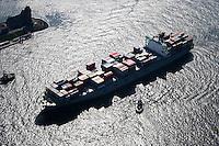Deutschland, Hamburg, COSCO Containerschiff, Seemannshoeft