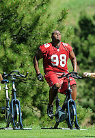 Jul 30, 2008; Flagstaff, AZ, USA; Arizona Cardinals defensive tackle Gabe Watson during training camp on the campus of Northern Arizona University. Mandatory Credit: Mark J. Rebilas-