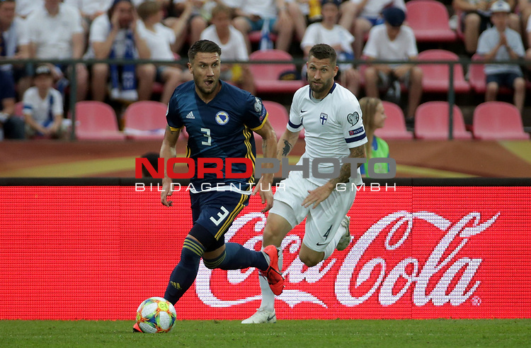 08.06.2019, Ratina-Stadion, Tampere, EM-Qualifikation 2019/2020, Gruppe J, Finnland vs Bosnien-Herzegowina , <br />