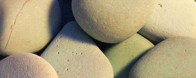 A macro shot of zen rocks.