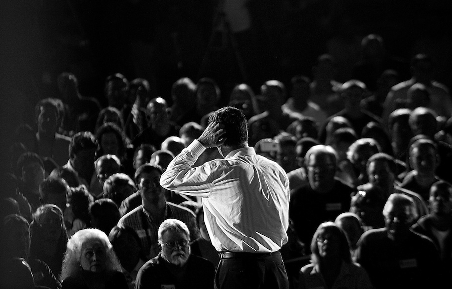 Former Massachusetts Governor and Republican presidential candidate Mitt Romney speaks during a grassroots rally at the Lanco paint company in Orlando, Florida, USA, 27 January 2012. Republican candidates are campaigning in Florida in the lead up to the Florida Primary on 31 January 2012.
