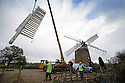 26/11/15<br /> <br /> The sails are removed from Britain's only working six-sailed stone windmill. <br /> <br /> Restoration work will continue over winter after wet rot was discovered in the beams supporting the sails at Heage Windmill, near Belper in Derbyshire.  <br /> <br /> As well as replacing the supporting beams that stretch as far as the mill's fantail, the sails will also be restored and painted.<br /> <br /> To date &pound;22,000 has been raised towards an expected cost of &pound;80,000. <br /> <br /> The windmill first ran in 1797 and continued to mill commercially until it was struck by lightning in 1919.<br /> <br /> It is expected to re-open by Easter 2016.<br /> <br /> All Rights Reserved: F Stop Press Ltd. +44(0)1335 418365   www.fstoppress.com.