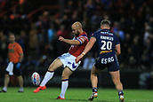 7th September 2017, Beaumont Legal Stadium, Wakefield, England; Betfred Super League, Super 8s; Wakefield Trinity versus St Helens; Liam Finn of Wakefield Trinity kicks the ball down field for position