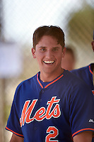 New York Mets shortstop Gavin Cecchini (2) during a minor league spring training game against the Miami Marlins on March 28, 2014 at Roger Dean Stadium in Jupiter, Florida.  (Mike Janes/Four Seam Images)