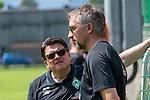 05.07.2019, Parkstadion, Zell am Ziller, AUT, TL Werder Bremen - Tag 01<br /> <br /> im Bild / picture shows <br /> <br /> Dr. Hubertus Hess-Grunewald (Geschäftsführer Organisation & Sport SV Werder Bremen)<br /> Frank Baumann (Geschäftsführer Fußball Werder Bremen)<br /> Sonnenbrille<br /> <br /> <br /> Foto © nordphoto / Kokenge