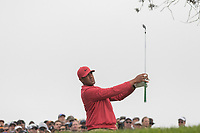 25th January 2020, Torrey Pines, La Jolla, San Diego, CA USA;  Tony Finau watches his iron shot during round 3 of the Farmers Insurance Open at Torrey Pines Golf Club on January 25, 2020