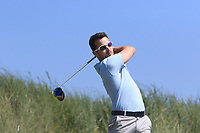 Daniel Holland (Castle) on the 3rd tee during Round 2 of the East of Ireland Amateur Open Championship 2018 at Co. Louth Golf Club, Baltray, Co. Louth on Sunday 3rd June 2018.<br /> Picture:  Thos Caffrey / Golffile<br /> <br /> All photo usage must carry mandatory copyright credit (&copy; Golffile | Thos Caffrey)