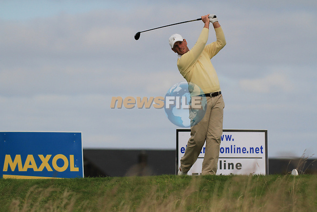 Day 3 of the 100th Irish PGA championship at Seapoint Golf Club, Co Louth..David Higgins teeing off on the 13th.Picture Fran Caffrey/www.golffile.ie.