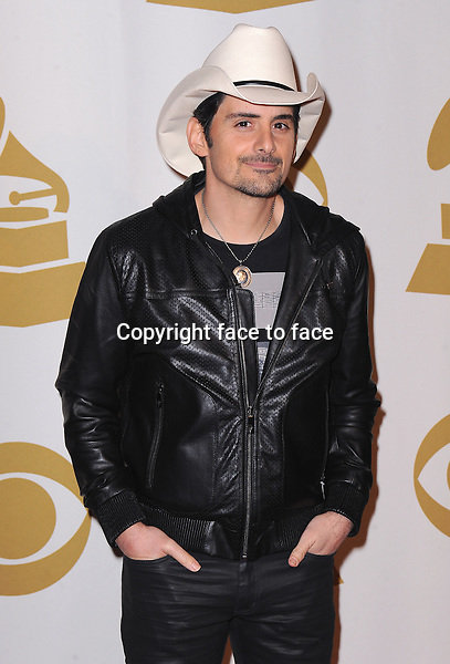 LOS ANGELES, CA - JANUARY 27:  Brad Paisley arrives at &quot;The Night That Changed America: A Grammy Salute to The Beatles&quot; at the Los Angeles Convention Center West Hall on January 27, 2014 in Los Angeles, California. <br /> Credit: MediaPunch/face to face<br /> - Germany, Austria, Switzerland, Eastern Europe, Australia, UK, USA, Taiwan, Singapore, China, Malaysia, Thailand, Sweden, Estonia, Latvia and Lithuania rights only -