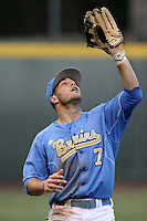 Cody Keefer #7 of the UCLA Bruins during a game against the Oregon Ducks at Jackie Robinson Stadium on April 6, 2012 in Los Angeles,California. Oregon defeated UCLA 8-3.(Larry Goren/Four Seam Images)