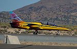 Pilot Jeff Turney in Robin-1 during the National Championship Air Races in Reno, Nevada on Wednesday, September 13, 2017.