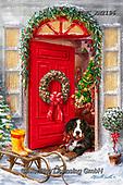 Marcello, CHRISTMAS SYMBOLS, WEIHNACHTEN SYMBOLE, NAVIDAD SÍMBOLOS, paintings+++++,ITMCXM2196,#xx# ,door,wreath,