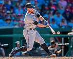 30 July 2017: Colorado Rockies first baseman Mark Reynolds in action against the Washington Nationals at Nationals Park in Washington, DC. The Rockies defeated the Nationals 10-6 in the second game of their 3-game weekend series. Mandatory Credit: Ed Wolfstein Photo *** RAW (NEF) Image File Available ***