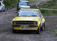 Tim Freeman / Paul Barden at Junction 6, on Special Stage 1 Craigvinean in the Colin McRae Forest Stages Rally 2012, Round 8 of the RAC MSA Scotish Rally Championship which was organised by Coltness Car Club and based in Aberfeldy on 5.10.12.