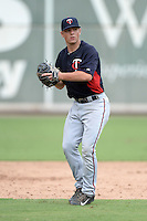 Minnesota Twins infielder Tyler Mautner (24) during an Instructional League game against the Boston Red Sox on September 26, 2014 at jetBlue Park at Fenway South in Fort Myers, Florida.  (Mike Janes/Four Seam Images)