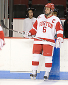 Joe Pereira (BU - 6) - The Boston University Terriers defeated the visiting Harvard University Crimson 5-2 on Saturday, January 15, 2011, at Agganis Arena in Boston, Massachusetts.