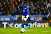 8th January 2020; King Power Stadium, Leicester, Midlands, England; English Football League Cup Football, Carabao Cup, Leicester City versus Aston Villa; Kelechi Iheanacho of Leicester City shapes to shoot for his equalising goal for 1-1 - Strictly Editorial Use Only. No use with unauthorized audio, video, data, fixture lists, club/league logos or 'live' services. Online in-match use limited to 120 images, no video emulation. No use in betting, games or single club/league/player publications