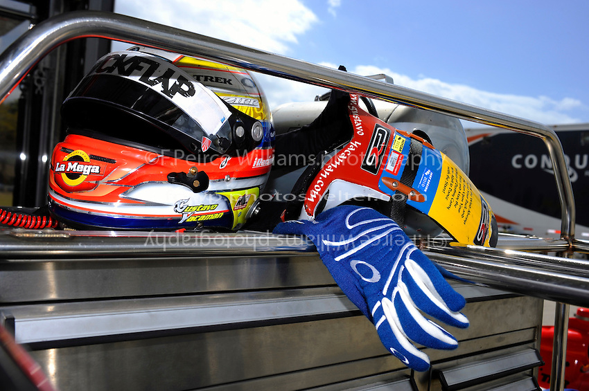 Helmet and HANS Device of Gustavo Yacaman (#2)