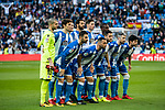 The players of RC Deportivo La Coruna line up and pose for photos prior to the La Liga 2017-18 match between Real Madrid and RC Deportivo La Coruna at Santiago Bernabeu Stadium on January 21 2018 in Madrid, Spain. Photo by Diego Gonzalez / Power Sport Images