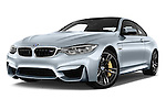 Stock pictures of low aggressive front three quarter view of 2016 BMW M4 2 Door Coupe Low Aggressive