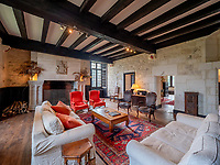 BNPS.co.uk (01202 558833)<br /> Pic: LeggettPrestige/BNPS<br /> <br /> PICTURED: The Chateau has four reception rooms, a family room, a kitchen.<br /> <br /> Wealthy Brits have the perfect chance to escape to the chateau after a medieval castle with its own fortifications and coat of arms went on the market for £3.3million. (3.9m euros)<br /> Located in south west France, Chateau de Vouzan comes with an enormous 23 hectares of land which can be looked out upon from its turreted watchtowers.<br /> The 15th century chateau, in Angouleme, Charente, has been granted 'protected historic monument' status by the French government.