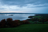 Lough Derg just after sunset on an autumn day, County Tipperary, Ireland.
