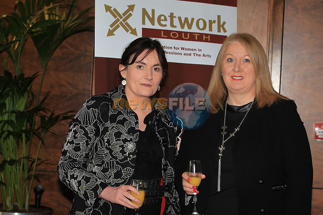 Margaret Ryan  Eileen Munnelly.at the Network Ireland International Womens Day event in the Crowne Plaza Dundalk...Picture: Fran Caffrey/ www.newsfile.ie.
