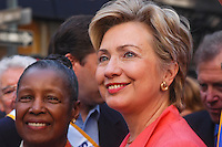 New York, NY - 6 Sept 03 -- Senator Hillary Clinton, at the  the Labor Day Parade.