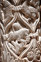 Sculpted columns of the cloisters of Monreale Cathedral - Palermo - Sicily Pictures, photos, images & fotos photography