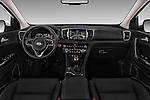 Stock photo of straight dashboard view of 2016 KIA Sportage Sense 5 Door Suv Dashboard