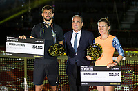 Simona Halep and Grigor Dimitrov win the of the Charity day previus at Madrid Open Tenis 2017in  Madrid, Spain. May 04, 2017. (ALTERPHOTOS/Rodrigo Jimenez) /NORTEPHOTO.COM