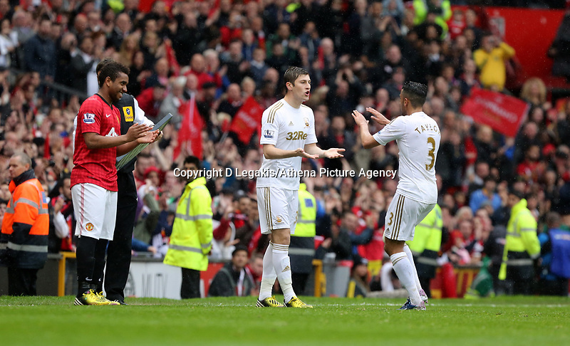 Pictured: (L-R) Ben Davies, Neil Taylor.<br />