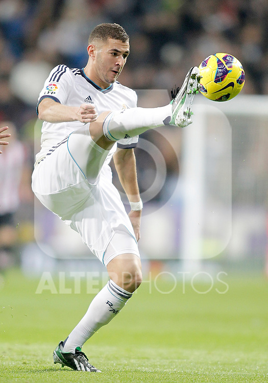 Real Madrid's Karim Benzema during La Liga Match. November 17, 2012. (ALTERPHOTOS/Alvaro Hernandez)