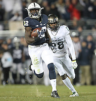 State College, PA - 11/26/2016:  Penn State WR Chris Godwin catches a touchdown pass. #7 Penn State defeated Michigan State by a score of 45-12 to secure the Big Ten conference East Division championship on Senior Day, Saturday, November 26, 2016, at Beaver Stadium in State College, PA.<br /> <br /> Photos by Joe Rokita / JoeRokita.com