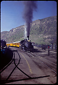 D&amp;RGW #473 K-28 pulling excursion train - leaving Durango<br /> D&amp;RGW  Durango, CO