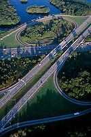 aerial, cloverleaf, Bedford, MA