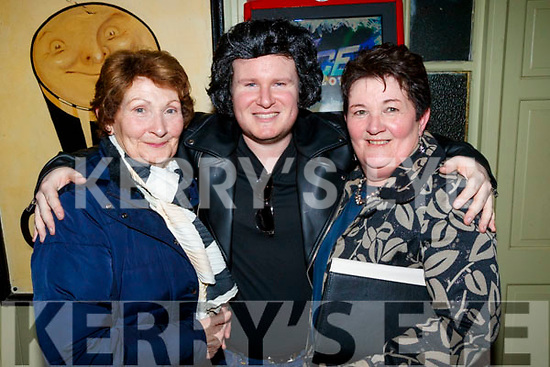 Kathleen Griffin, Joe Burkett and Bridie Mulrennan, pictured at the 80's/90's fundraiser disco at the Abbey Tavern, Ardfert on Saturday night last.