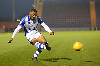 Ryan Jackson of Colchester United crosses late in the second half during Colchester United vs Exeter City, Sky Bet EFL League 2 Football at the JobServe Community Stadium on 24th November 2018