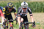 The breakaway group featuring Chad Haga (USA) Team Sunweb in action during Stage 9 of the 2018 Tour de France running 156.5km from Arras Citadelle to Roubaix, France. 15th July 2018. <br /> Picture: ASO/Pauline Ballet | Cyclefile<br /> All photos usage must carry mandatory copyright credit (&copy; Cyclefile | ASO/Pauline Ballet)