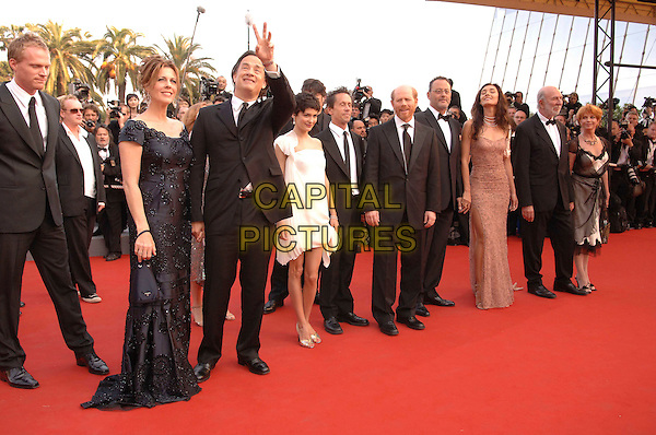 "PAUL BETTANY, RITA WILSON, TOM HANKS, AUDREY TAUTOU, BRIAN GRAZER RON HOWARD, JEAN RENO.""The Da Vinci Code"" world film premiere at the 59th International Cannes Film Festival, Cannes, France..17 May 2006.Ref: FIN.Da Vinci Code, full length black suit.www.capitalpictures.com.sales@capitalpictures.com.©Steve Finn/Capital Pictures"