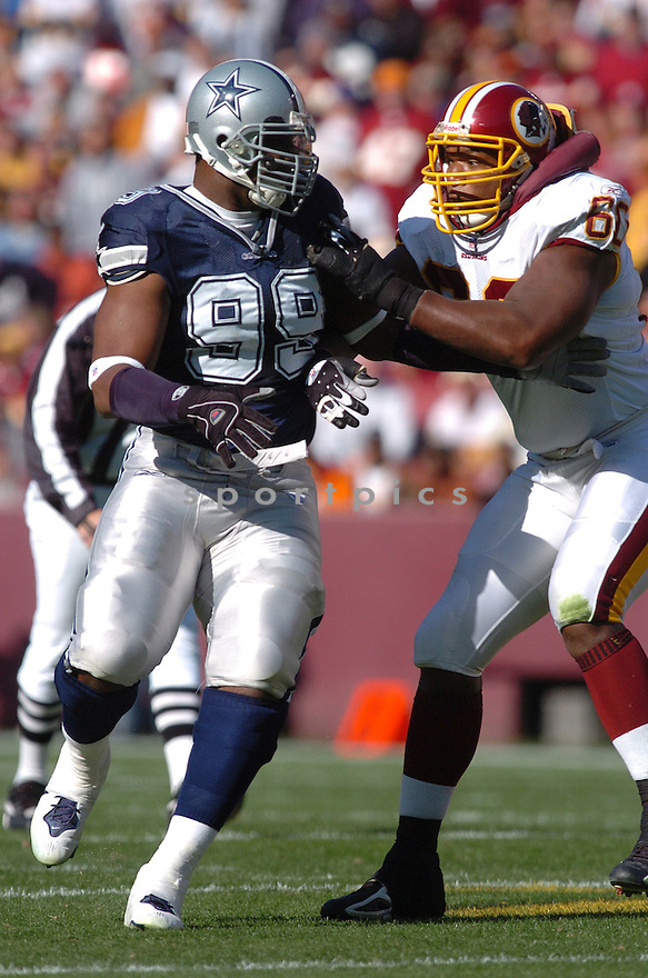 CHRIS CANTY, of the Dallas Cowboys ,during their game against  the  Washington Redskins on Novmeber 05, 2006 in Washington D.C....Redskins win 22-19..Tomasso DeRosa / SportPics