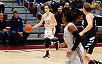 NAUGATUCK,  CT-011820JS07- Naugatuck's Kaylee Jackson (12) pushes the ball up court during their non-league game against Shepaug Saturday at Naugatuck High School. <br /> Jim Shannon Republican-American