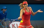 Maria Sharapova (RUS) defeats Zarina Diyas (KAZ), 6-1, 6-1 at the Australian Open being played at Melbourne Park in Melbourne, Australia on January 23, 2015