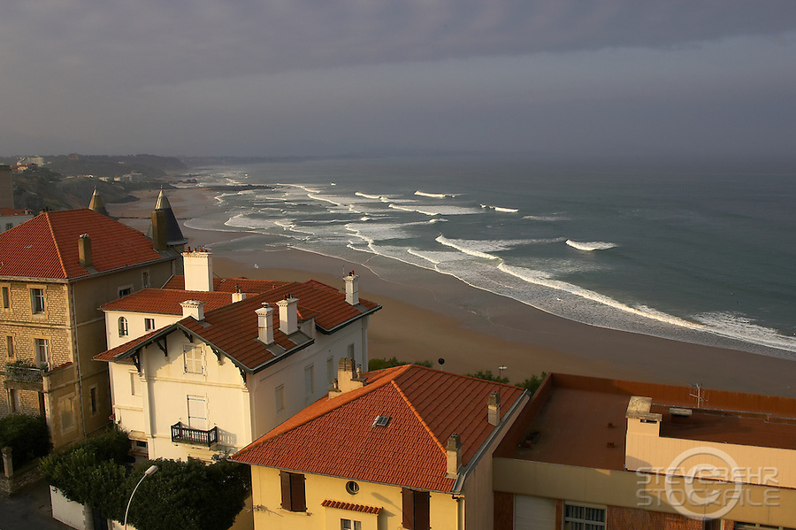 Biarritz, France..Cote Du Basque Beach ..October 2007..pic copyright Steve Behr / Stockfile