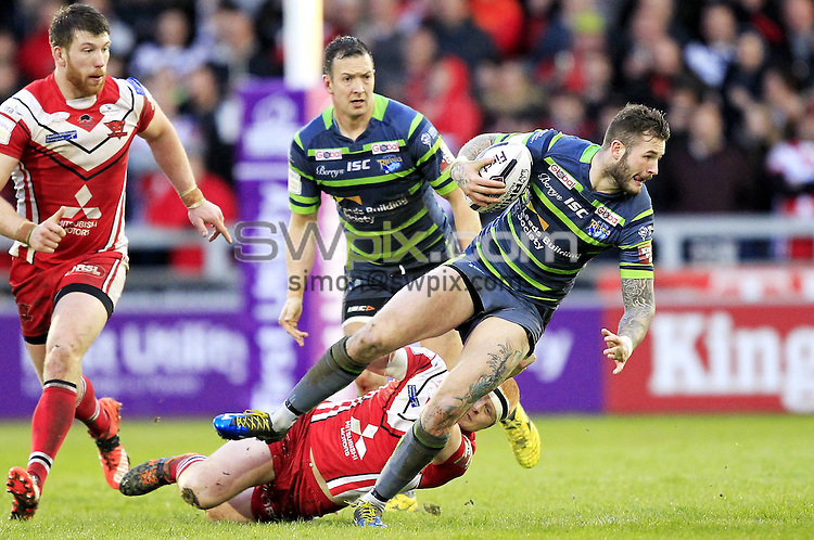 Picture by Chris Mangnall/SWpix.com - 09/04/2016 - Rugby League - First Utility Super League - Salford Red Devils v Leeds Rhinos - A J Bell Stadium, Manchester, England<br />