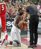 USA's Kyrie Irving have words with the referee during 2014 FIBA Basketball World Cup Round of 16 match.September 6,2014.(ALTERPHOTOS/Acero)