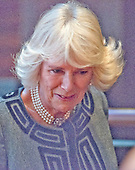 Camilla, the Duchess of Cornwall, wife of Britain's Prince Charles, departs the stage during a visit to the Shakespeare Theatre Company at Sidney Harman Hall in Washington, D.C. on Wednesday, March 18, 2015.  <br /> Credit: Ron Sachs / CNP