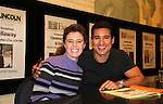 Bold and The Beautiful's Mario Lopezp oses with fan Lynn as he has a new book Mud Tacos or Tacos de Lodo on October 16, 2009 at Lincoln Square Barnes & Noble, New York City, New York.(Photos by Sue Coflin/Max Photos)